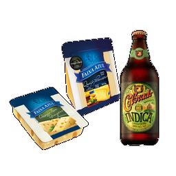 Happy Hour com Parmesão, Gruyère e cerveja