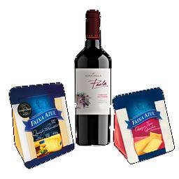 Happy Hour com Parmesão, Gouda e vinho