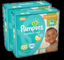 2 x Fralda Pampers Comfort Sec XXG 30 U