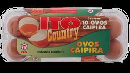 Ovo Ito Country Grande Vermelho Caipira 10 Unidades