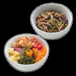 Poke de Frango Pequeno + Porção de Shimeji