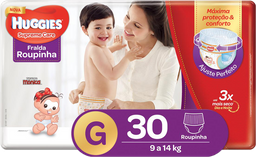 3x Fralda Huggies Supreme Care Mega Roupinha G 30 Und