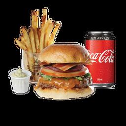 The Burger market + fritas + coca