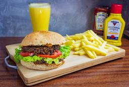 Burger Duplo + Fritas + Suco
