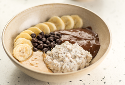 Overnight Banana com Chocolate