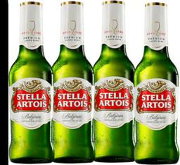 4 Cervejas Stella Longneck 275ml