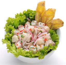Ceviche Tradicional + Salada de Quinoa