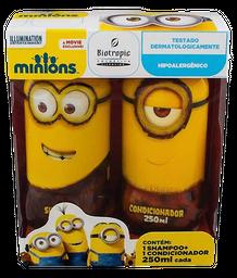 Kit Shampoo Infantil Biotropic Minions 250 mL + Cond. 250 mL
