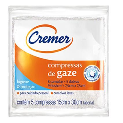 Compressa de Gaze Cremer 7,5x7,5cm Com 5 Und