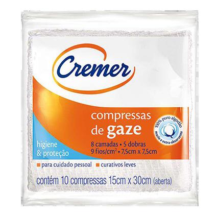 Cremer Compressa Gaze 75x75 10 Und 2x25