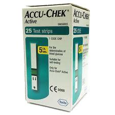Fita Accu Check Active Com 25 Testes
