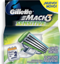 Carga Gillette Mach3 Sensitive Com 2 Und