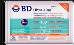Seringa de Insulina Ultra-Fine 6mm 100UI BD