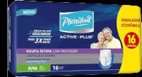 Roupa Íntima Descartável Plenitud Active Plus Tamanho P/M Com 16