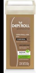 Cera Depilatória Roll-on Refil Corpo Tradicional DepiRoll 100g