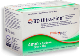 BD Ultra-Fine Agulha Descartavél 4mm Caneta Com 100 U