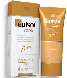 Protetor Solar Episol Color Pele Morena FPS70 40g