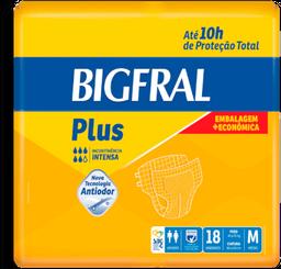 Fralda Bigfral Geriátrica Plus Média C/ 18 Unidades