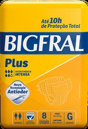 Fralda Geriátrica Bigfral Plus G - 8 Unds