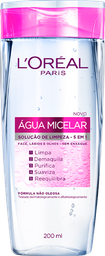 Água Micelar 5 Em 1 De LOréal Paris 200Ml
