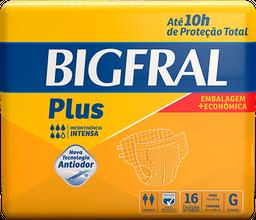 Fralda Geriátrica Bigfral Plus G - 16 Unds