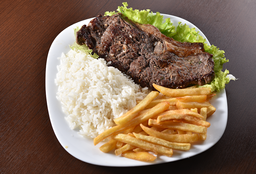 Bife de Contra Filet - Arroz e fritas