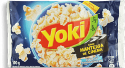 Yoki Pipoca Para Microondas Manteiga de Cinema