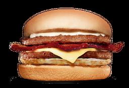 Duplo X-burguer Bacon Com Ovo - Combo + refri + Fritas