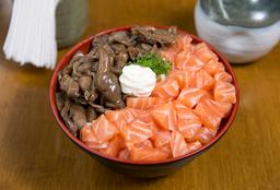 Tirashi Salmão Com Shimeji