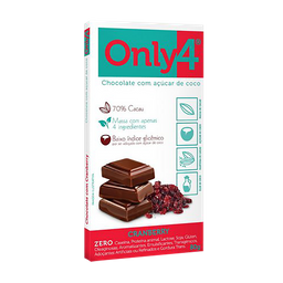 Only 4 Chocolate Genevy Com Acucar De Coco Sabor Cranberry
