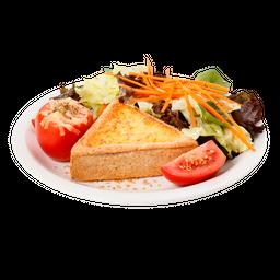 Quiche Integral Caprese & Salada