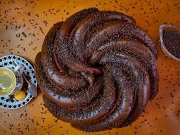Bolo Espiral Chocolate e Brigadeiro