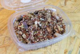 Quinoa com Berinjela e Hortelã