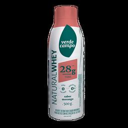 Iogurte 28 g Whey Verde Campo Morango 500 g