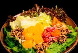 Salada de Laranja com Crisps de Arroz Selvagem