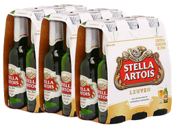 3 x Pack Com 6 Cervejas Stella Artois Long Neck 275 mL