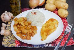 Filé de frango grelhado com fritas 2x1