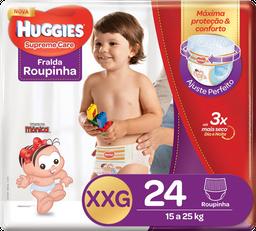FRALDA ROUPINHA HUGGIES SUPREME CARE XXG 24 UNI.