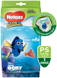 FRALDA HUGGIES LITTLE SWIMMERS P 2 UNI.