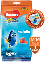 FRALDA HUGGIES LITTLE SWIMMERS M 2 UND
