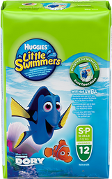 FRALDA HUGGIES LITTLE SWIMMERS P 12 UNI.