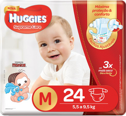 Fralda Huggies Supreme Care M 24 Und