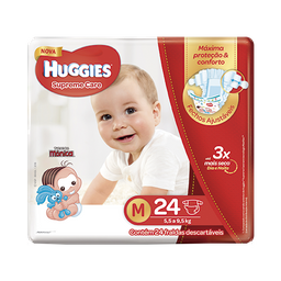 Fralda HUGGIES Supreme Care M - 24 fraldas
