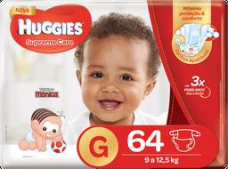 Fralda Huggies Supreme Care G 64 Und