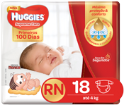 Fralda Huggies Supreme Care Rn 18 Und