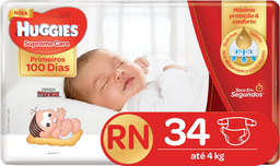 Fralda Huggies Supreme Care Rn 34 Und