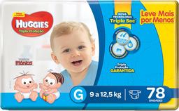 Fralda Huggies Tripla Proteção G 78 Und