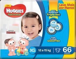 Fralda Huggies Tripla Proteção Xg 66 Und