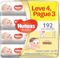 Baby Wipes Huggies Pure Care Leve4Pague3