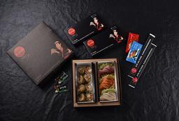Sashimi + Hot Holl de Salmão (27 peças)